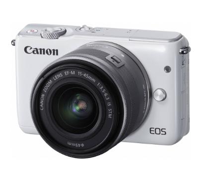 Máy ảnh Mirrorless Canon EOS M10 kit 15-45mm - Trắng - Chính hãng - Tặng thẻ 8GB + Túi