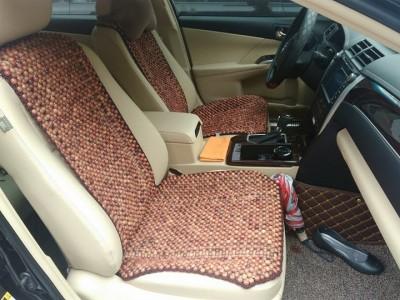 Lót ghế ô tô bằng hạt gỗ hương HGV01 (có viền hạt 1,2cm)